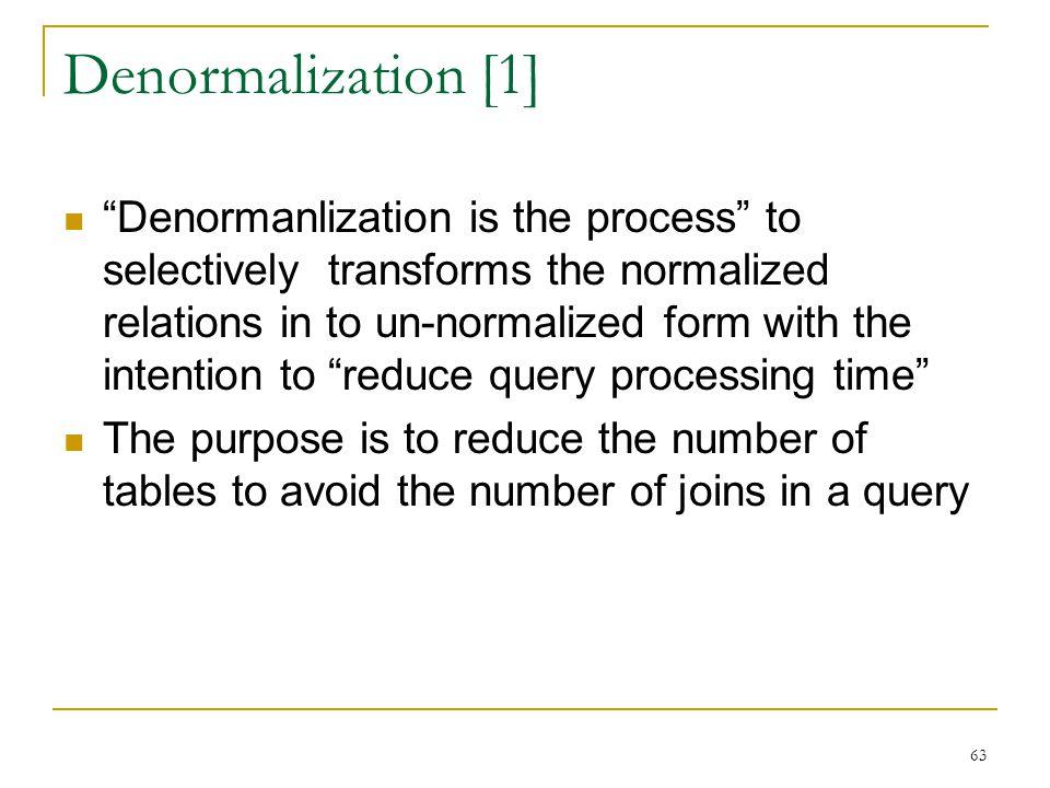 Denormalization [1]